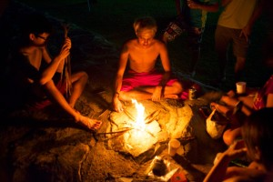 Toasting Marshmallow with Campfire
